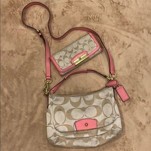 Coach Cross Body Purse and Wallet Set